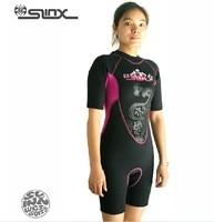 slinx мужские неопрена гидрокостюм мужчины женщины с коротким рукавом погружения плавать костюм гидрокостюм плавание хождение водных лыж костюм
