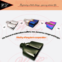 4 Colors Car Exhaust Tip/Muffler Universal Cover Modified Tail Pipe For Inlet 36 60mm 45 73mm Ending Tube Customized Logo