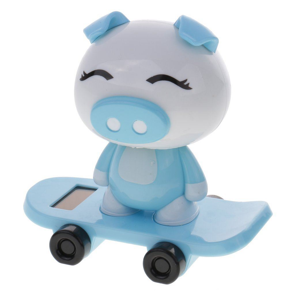 Automobiles & Motorcycles Apprehensive Dhbh-solar Energy Toy Animal Model Skateboard Balance Flip Flap Gift Home Office Car Decoration Pig Factories And Mines