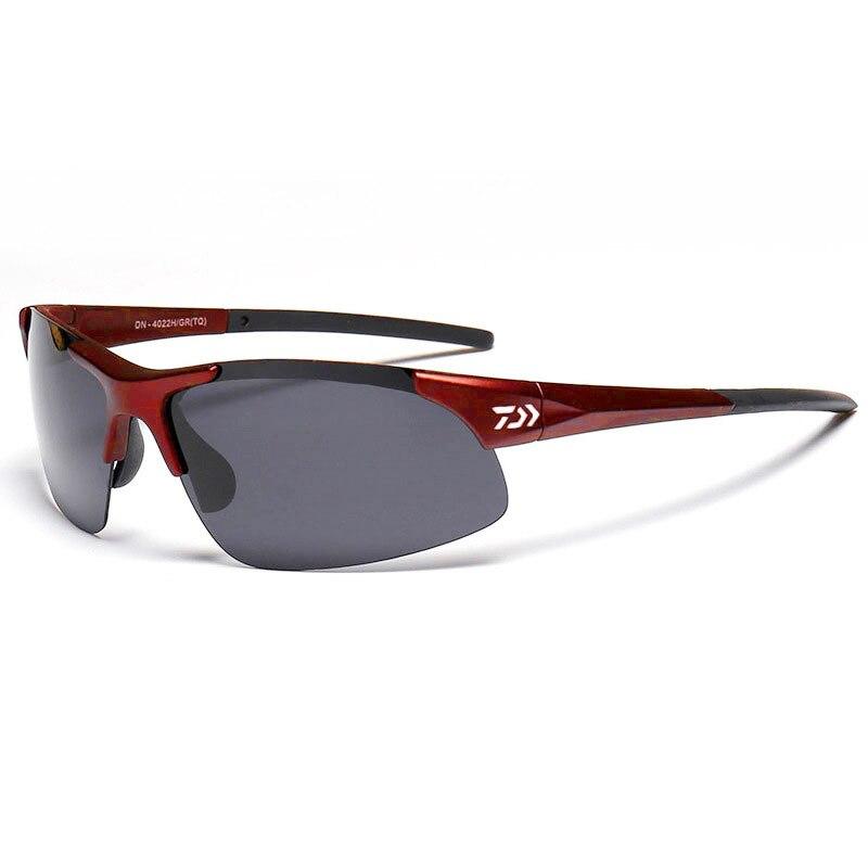 5 cores daiwa óculos de pesca esporte ao ar livre óculos de sol para ciclismo pesca com lentes de resina polarizada