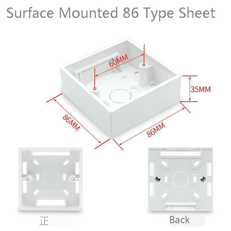 10PCS Box 86 Flame Switch Socket The Bottom Of The Box PVC Connection Wiring Box 86 Type General Purpose The Bottom Of The Box