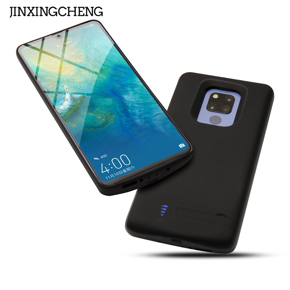 JINXINGCHENG Fingerprint Hole Battery Charger Case for Huawei Mate 20X Back Clip Fast 20 X 6000mah