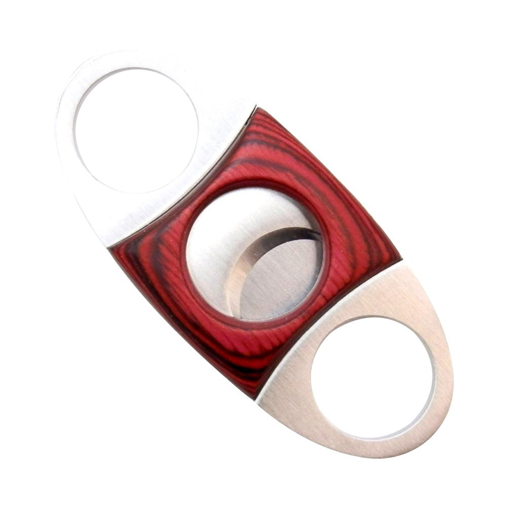 Redwood Stainless Steel Double-Edged Cigar Cutter Scissors Cuban Cigar Accessories Portable Tool Cigar Puncher High Strength image