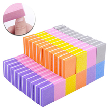 Fashion 10PCS Double-sided Colorful Nail File Polishing Mini Sponge Manicure Tools