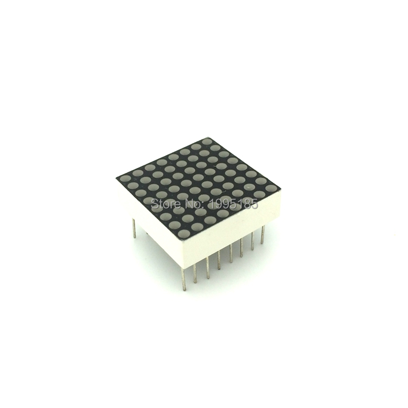 2pcs/Lot 8x8 1.9mm LED Dot Matrix Display 16pin 20*20mm Red Common Anode / Common Cathode 788BS / 788AS LED Display Module