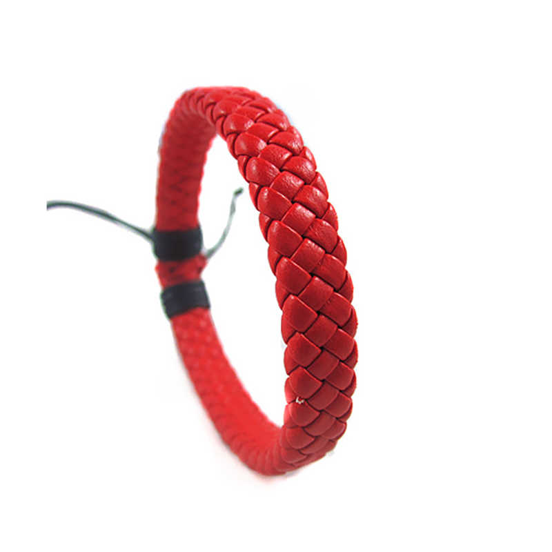 Sale Men Unisex PU Leather Adjustable Bracelet Bangle Cuff Rope Black Surfer Wrap