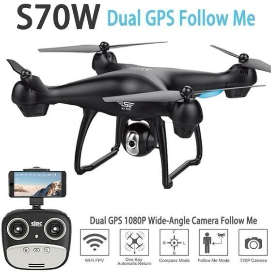 SJRC S70W Dual GPS Follow Me WIFI FPV RC Drone Helicopter 400M Distance 1080P HD camera GPS position quadcopter vs X183 X21 ZLRC image