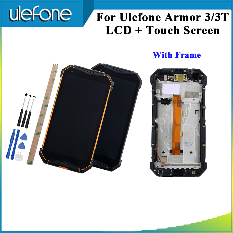 For Ulefone Armor 3 LCD Display And Touch Screen Digitizer Assembly For Ulefone Armor 3T Phone +Tools And Adhesive With Frame