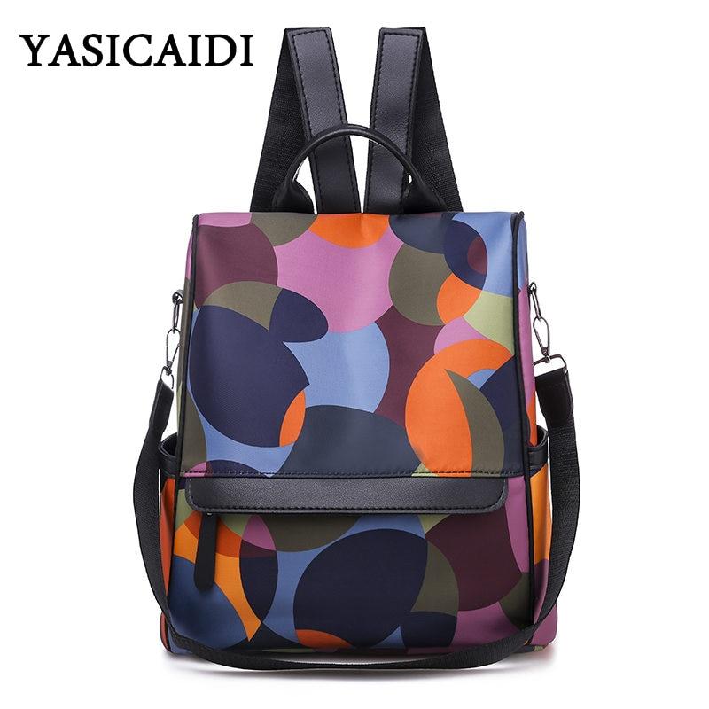 Oxford Backpack Schoolbag Travel-Bag Teenager Girls Mochila-Feminina Casual Women Multifuction