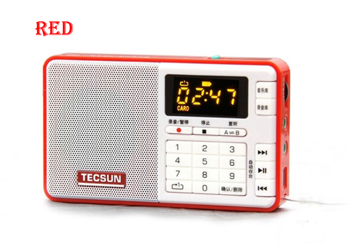 משלוח חינם TECSUN Q3 FM סטריאו גודל כיס רשמקול נגן MP3 רדיו FM 76-108