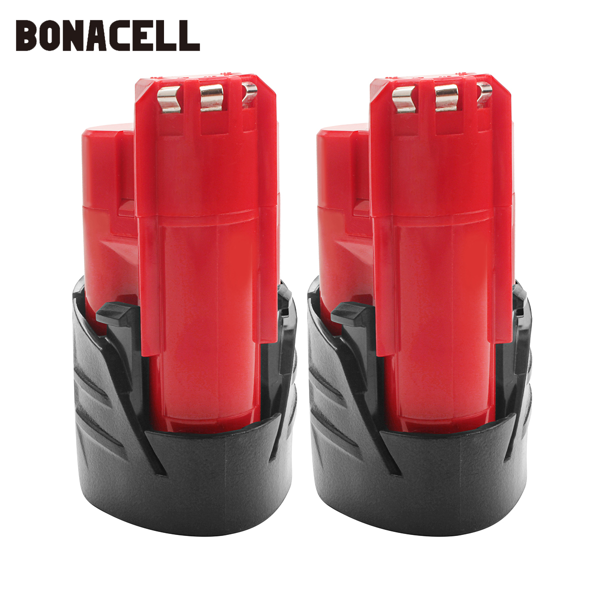 Bonacell 12V 2000mAh LI ION battery Rechargeable Power Tool Battery For Milwaukee M12 48 11 2401 48 11 2440 L10 in Replacement Batteries from Consumer Electronics