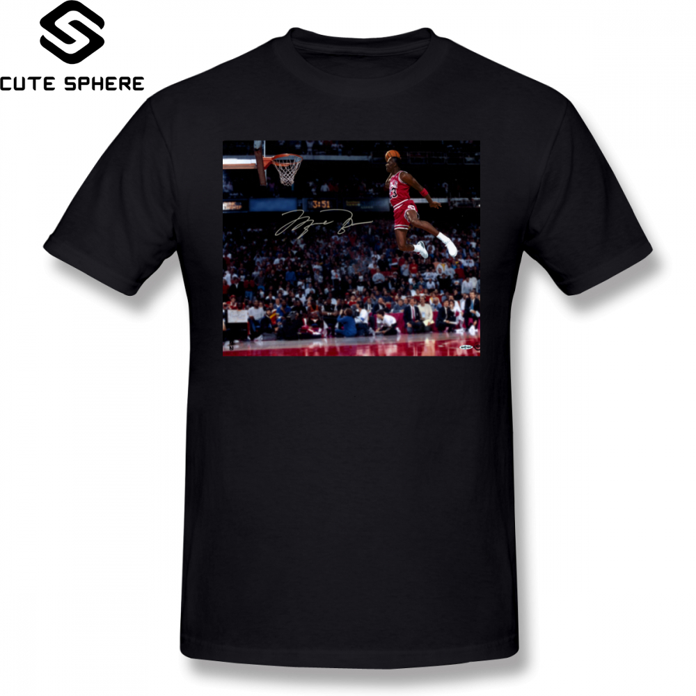 5400c706cc07c7 Slam Dunk T Shirt Michael Jordan Slam Dunk T-Shirt Plus size Print Tee Shirt  Cotton Fashion Mens Short Sleeves Funny Tshirt
