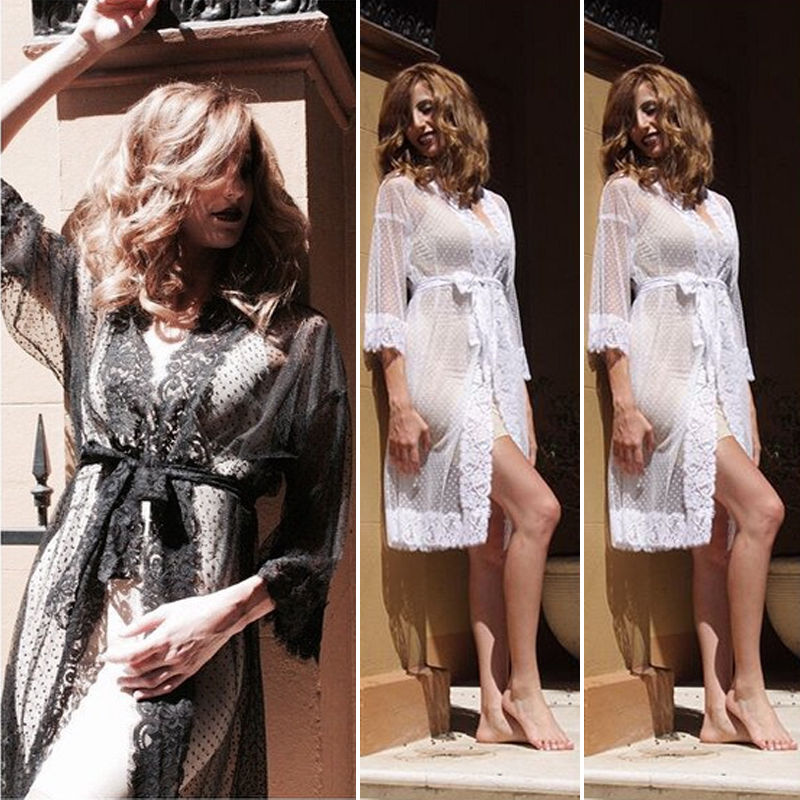 New Hot Sale Women's Summer Beach Beachwear Swimwear Bikini Wear Lace Cover Up Kaftan Ladies Dress