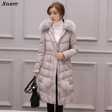 New Autumn Winter Women Parka 2018 Casual Long Sleeve Thick Warm Jacket Coat Female Fur Collar Hoodies ukraine 2XL