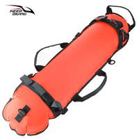 Spearfishing Scuba Diving Inflation Torpedo Buoy Signal Float Ball + Diving Flag Free Diving Gear Equipment