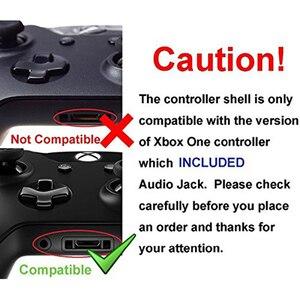 Image 4 - Nero opaco Controller Custodia Borsette Set Completo Faceplate Bottoni per Xbox One Controller Con il 3.5 millimetri auricolare Martinetti Xbox one