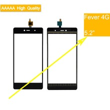 10Pcs/lot For Wiko Fever 4G Touch Screen Panel Sensor Digitizer Front Outer Glass Touchscreen Fever 4G Touch Panel Black 10pcs lot for wiko ridge fab 4g lcd display touch panel black color mobile phone lcds with touch screen free shipping