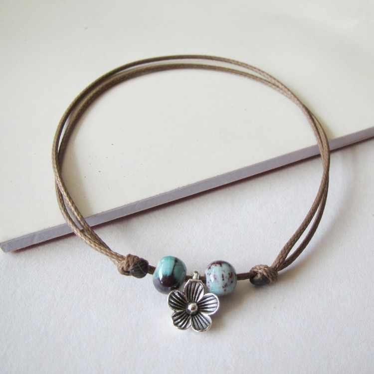 1 шт. новые модные регулируемые Простые керамические браслеты женские оригинальные ручные модные браслеты листья керамические украшения 41 #