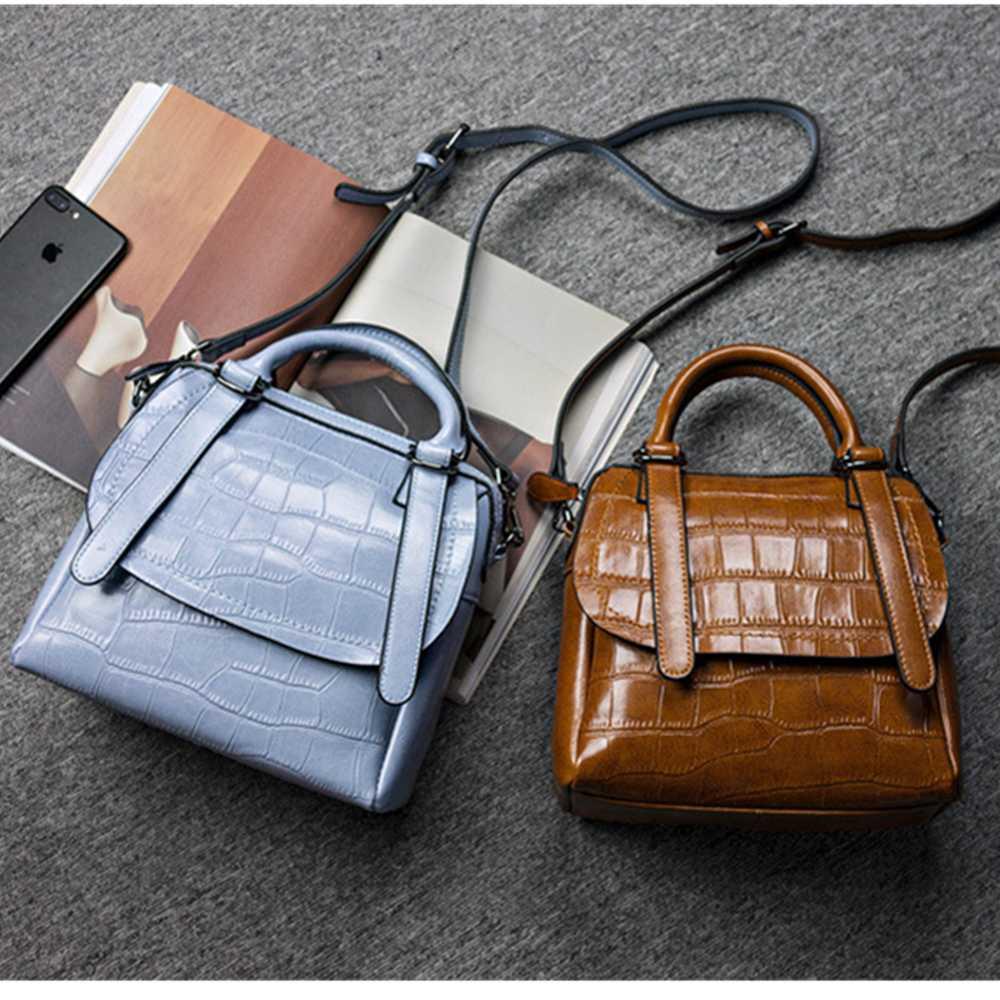 Genuine Leather Handbags For Women Messenger Bags Brand Female Luxury Real Leather Handbag Crossbody Shoulder Bag