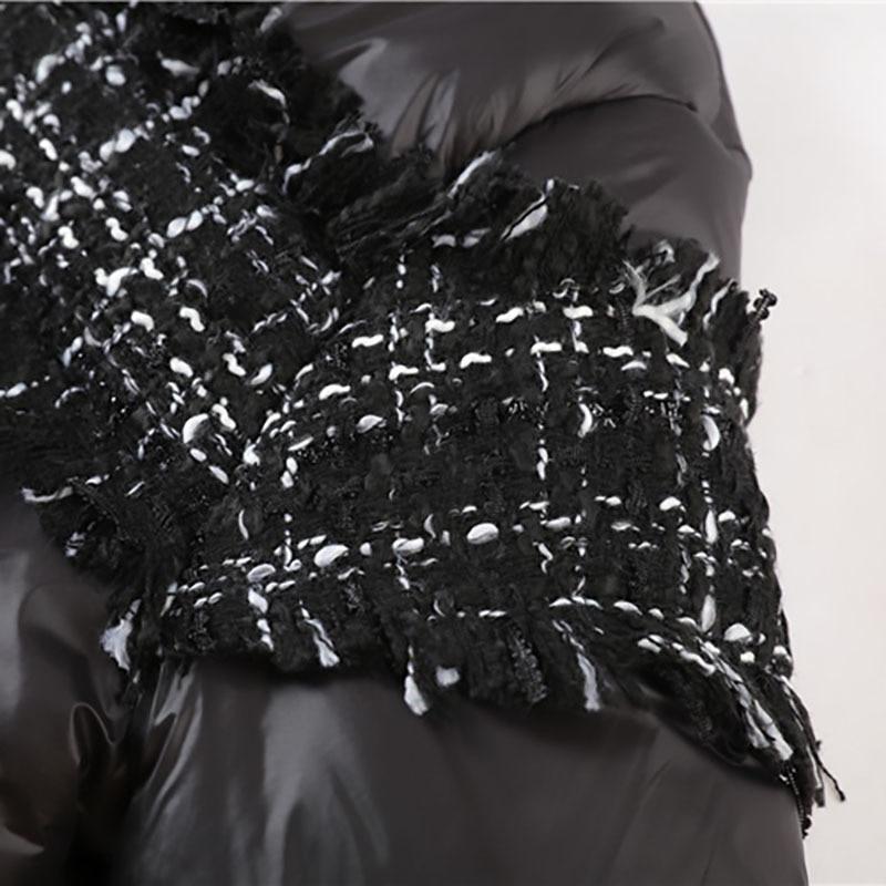Éclair Chaud eam Noir Longues À Fermeture Montant Couleur Rembourré Manches Manteau Coton Épais Printemps Col 2019 Ld946 Imprimer Modèle Black Poches wSnwf7q6