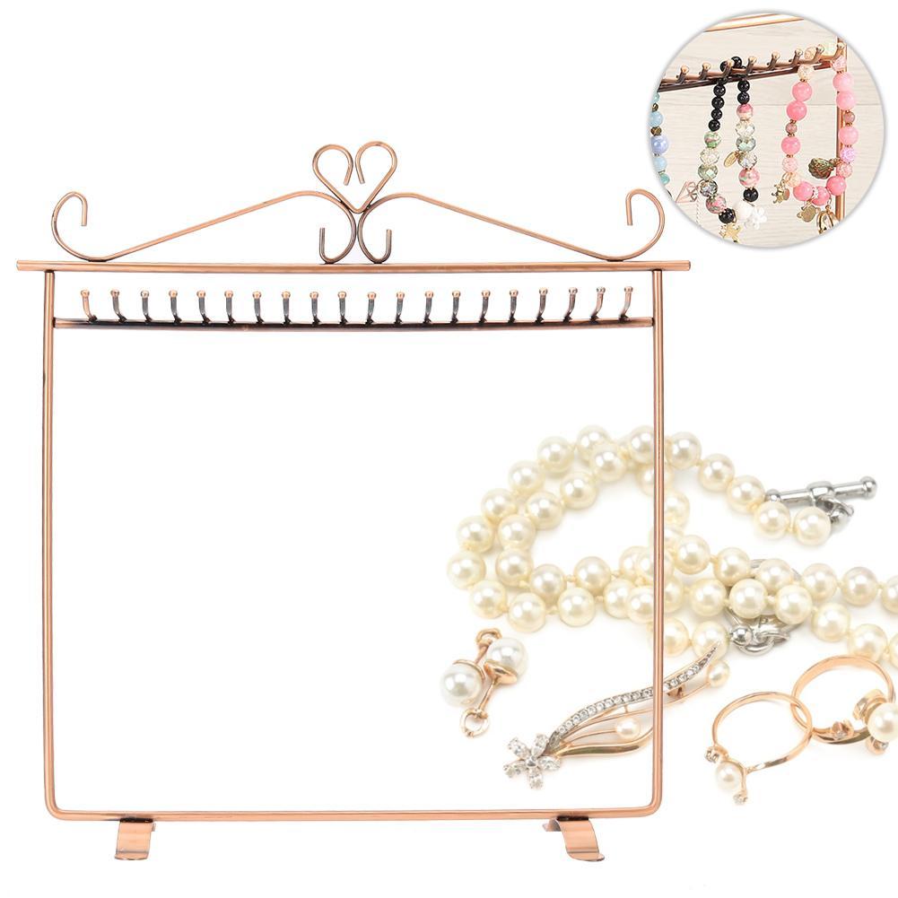 Retro Multifunctional Metal 20 Hooks Jewellery Display Stand Earring Necklace Bracelet Hook Holder Hanger Display Stands Holder
