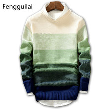 2018 New Spring and Autumn Fashion Casual Sweater O-Neck Slim Fit Knitting Mens Sweaters And Pullovers Men Pullover XXL