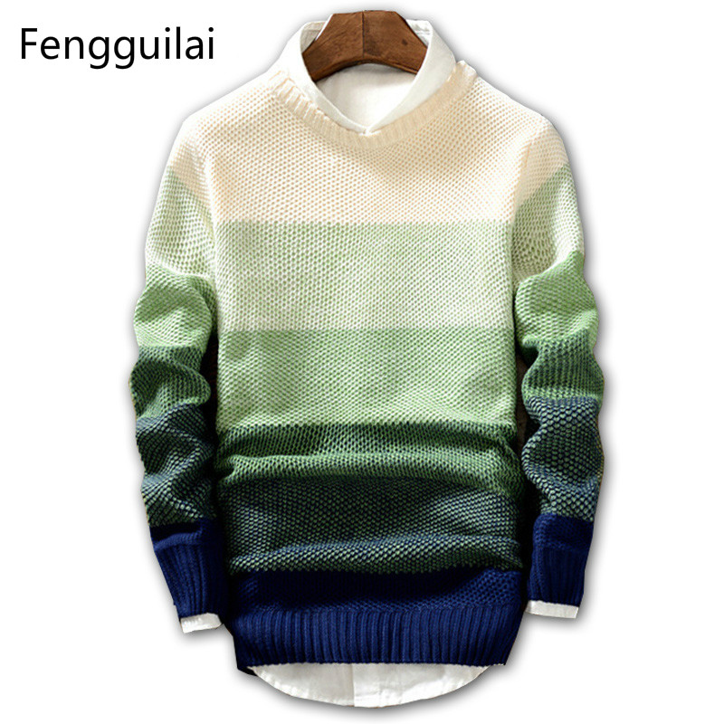 New Spring And Autumn Fashion Casual Sweater O-Neck Slim Fit Knitting Mens Sweaters And Pullovers Men Pullover Men XXL