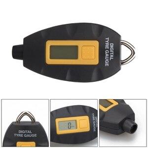 Image 3 - LED الخلفية عجلة الاطارات الإطارات ضغط الهواء آلة لقياس السيارات الرقمية متر أداة سيارة دراجة نارية سيارة 3 100 PSI KPA بار