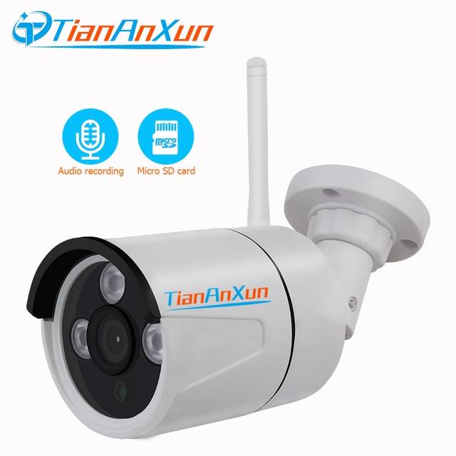 Tiananxun caméra de Surveillance extérieure IP wifi/1080P/720P, dispositif de sécurité domestique sans fil, avec enregistrement Audio et SD