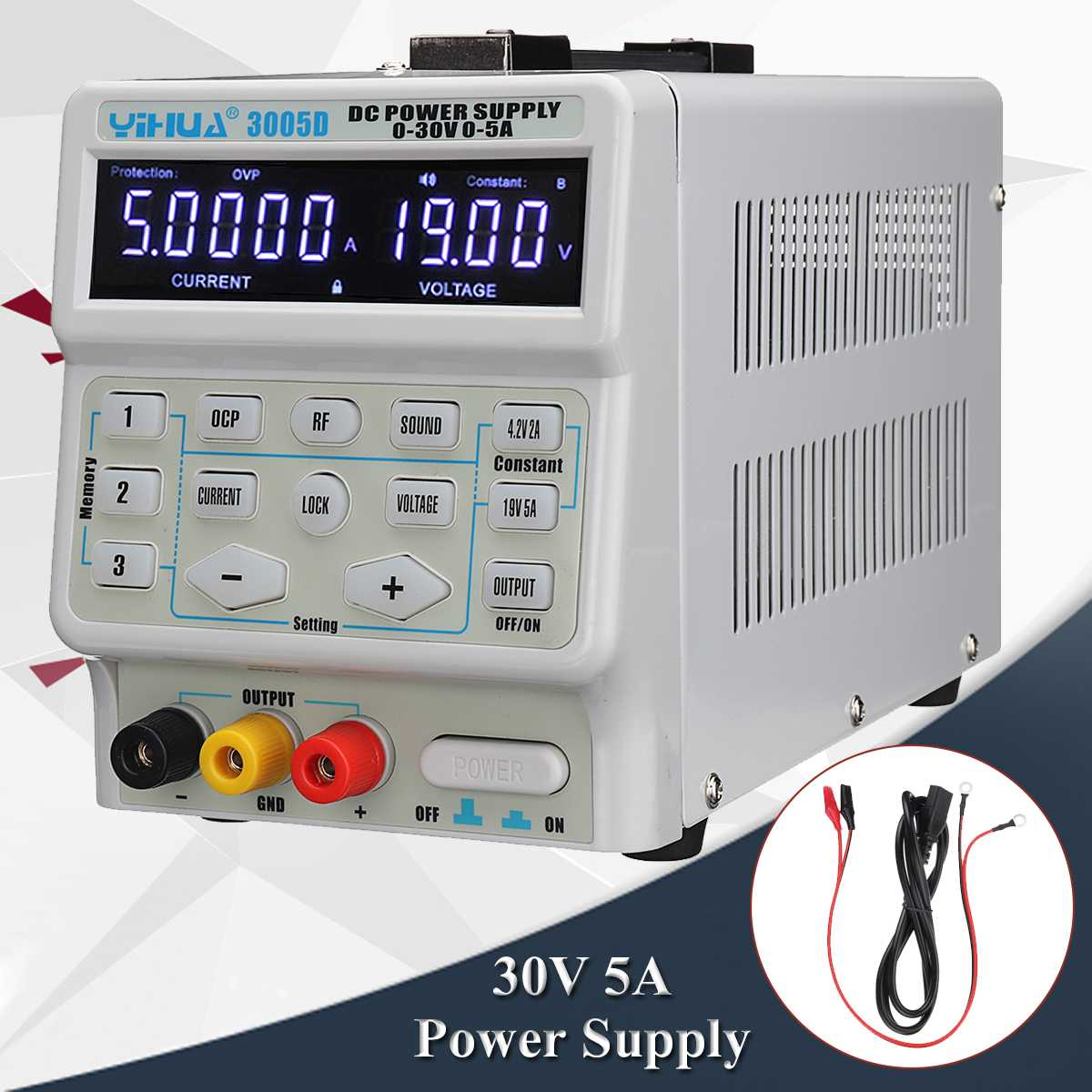 30V 5A Digital DC Switch Power Supply Professional 110V 220V Accurate Variable Dual Digital Adjustable DC