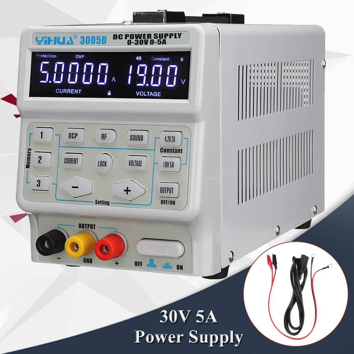 30 V 5A Digital DC Interruptor de Alimentação Professional 110 V/220 V Precisão Variável Dupla Digital DC Ajustável fonte de Alimentação