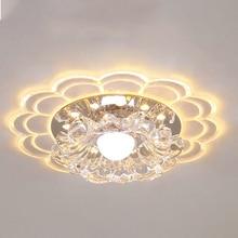 Artpad Modern Creative LED Crystal Ceiling Light RGB 3W 5W Surface Mount Spotlight Fixtures Foyer Corridor Lamp