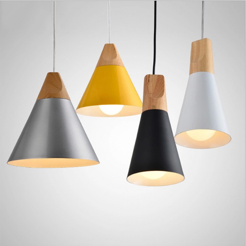 Nordic Modern Pendant Lights Wood Lighting Pendants Lamp For Cafe Restaurant Bedroom Hanging Lamp Kitchen Suspension Luminaire