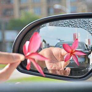 Image 3 - 한 쌍의 자동차 백미러 방수 및 안티 안개 비 증거 필름 사이드 창 유리 필름 다양한 크기 사양