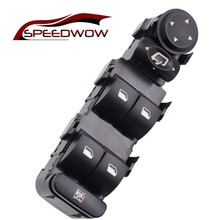 SPEEDWOW автомобиля Черный Водопроницаемый чехол 9-контактный Электрический мастер Мощность окна автомобиля зеркало переключатель Панель кнопка для Citroen Ключ C4 2004-2010 6554.HA