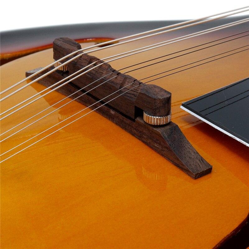 SENRHY coucher de soleil couleur palissandre 8 cordes F trou guitare basse électrique 20 Fret ukulélé pour les amateurs d'instruments à cordes musicales - 6