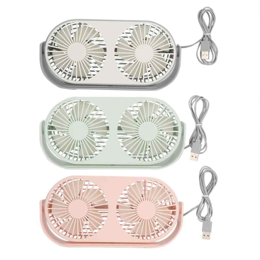 Hot Sale 1Pc 3 function in 1 Portable Mini Aromatherapy Fan Aroma Diffuser USB Charging Desk Fans Double Fan 3 Gears Adjustment