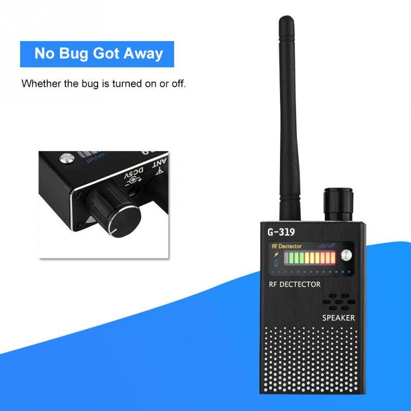 G319 Wireless RF Signal Detector Cell Phone Detector Full Range Signal Bug Detector Finder GSM Device US Plug 1-8000 MHz 1 pcs full range multi function detectable rf lens detector wireless camera gps spy bug rf signal gsm device finder