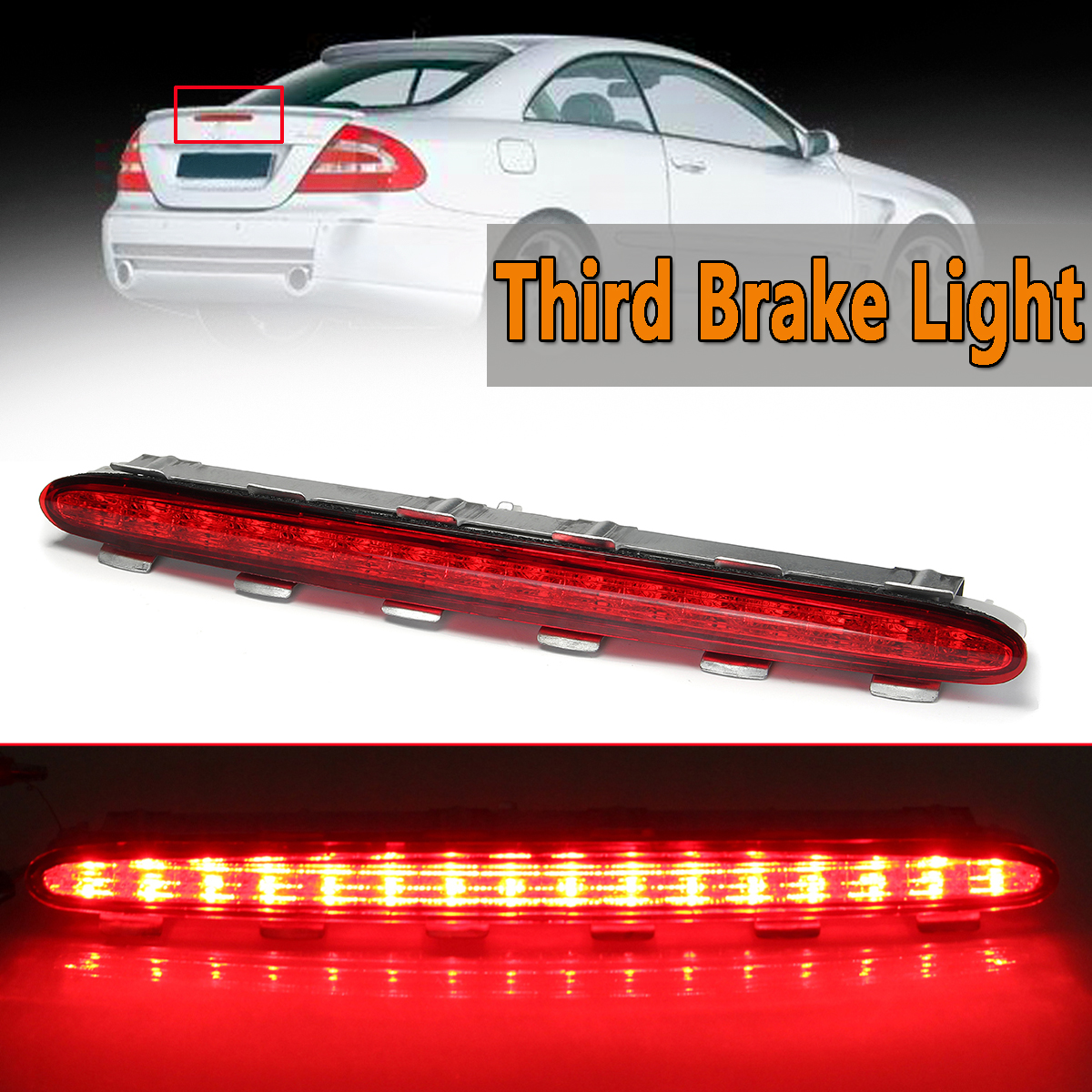 LED Car Rear Third Brake Lights Tail Lamp For Benz For Mercedes CLK W209 2002-2009 Car Styling Rear Roof Warning Light Red