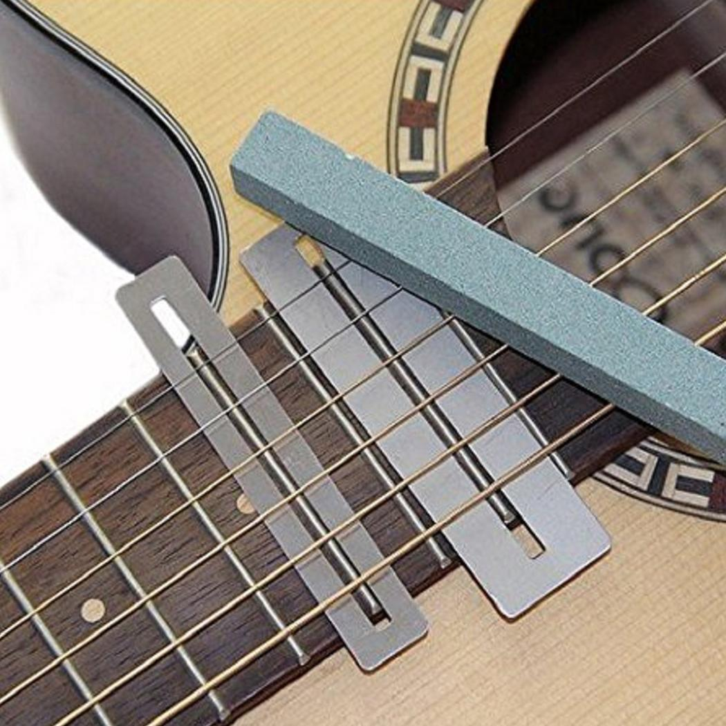 Guitar Fingerboard Guards with Polishing Stone and Protect File Cleaning Tool Set FretWire Beam DIY Luthier