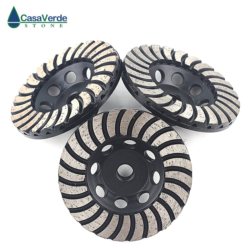 3pcs/set Arbor M14 Diamond 4 Inch Granite 100mm Diamond Grinding And Polishing Wheels  For Stone