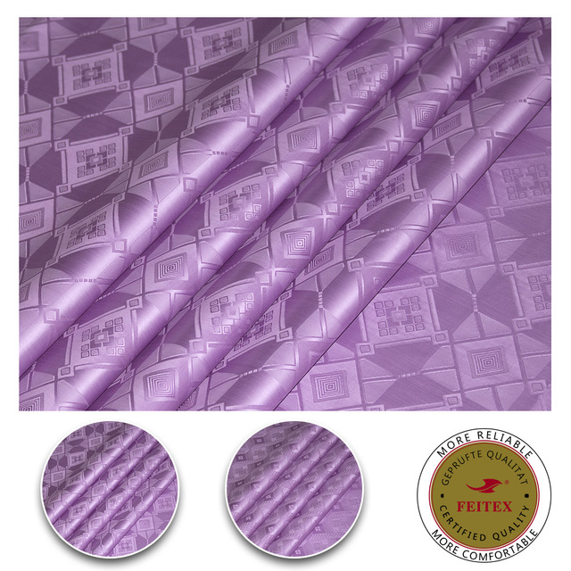 New Color Violet African Bazin Riche Cotton Fabric Guinea Brocade Damask For Wedding Party Dresses