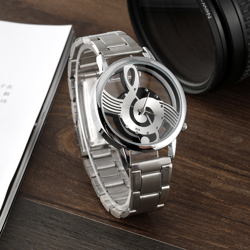 2018 Watch Women Watches Relogio Feminino Note Music Notation Hollow Stainless Steel Quartz Wristwatches Fashion Montre Femme