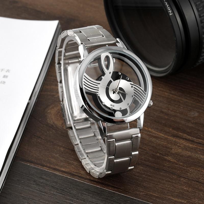 2018 Watch Women Watches Relogio Feminino Note Music Notation Hollow Stainless Steel Quartz Wristwatches Fashion Montre Femme