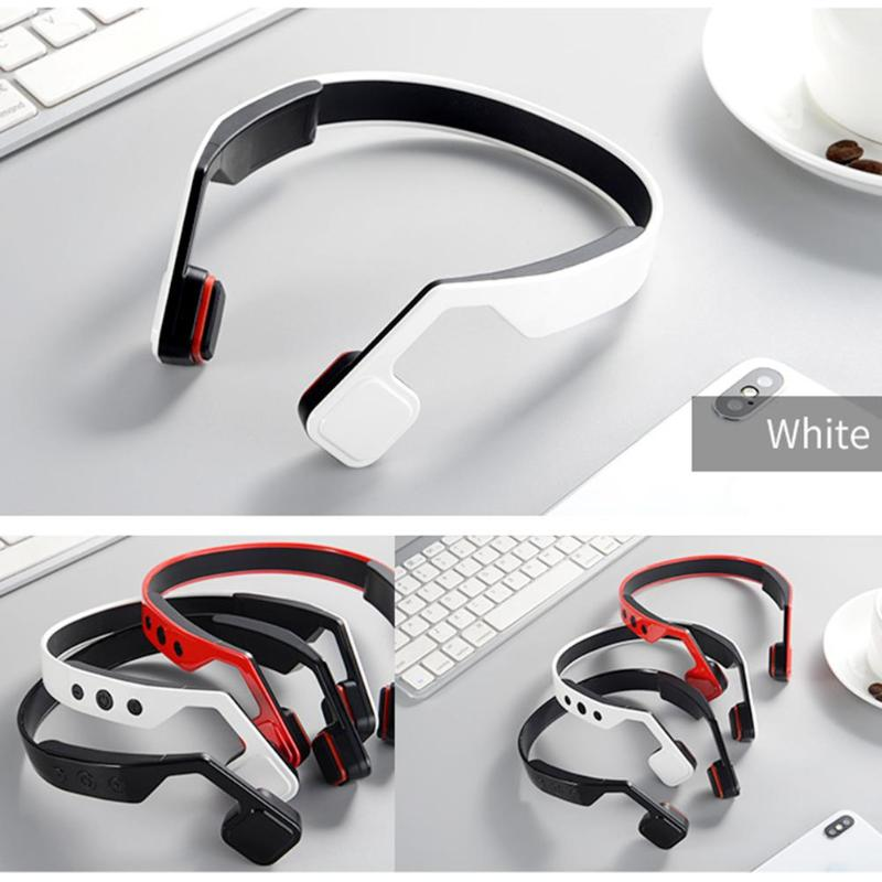 $37.14 3 Colors Wireless Bone Conduction HiFi Bluetooth Earphone Running Sport Neckband Headsets Eadbuds Headphone for Xiaomi Iphone