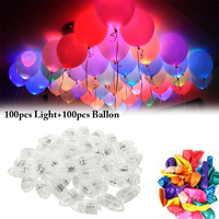 Balloon Lights Mini LED Party Lights Latex Balloon Lights with 100PCS Balloons