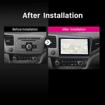 Seicane 10.1 inch Android 8.1 GPS Navigation for 2012 2013 Honda Civic Car radio Head Unit Player Support TPMS DAB+ Mirror link