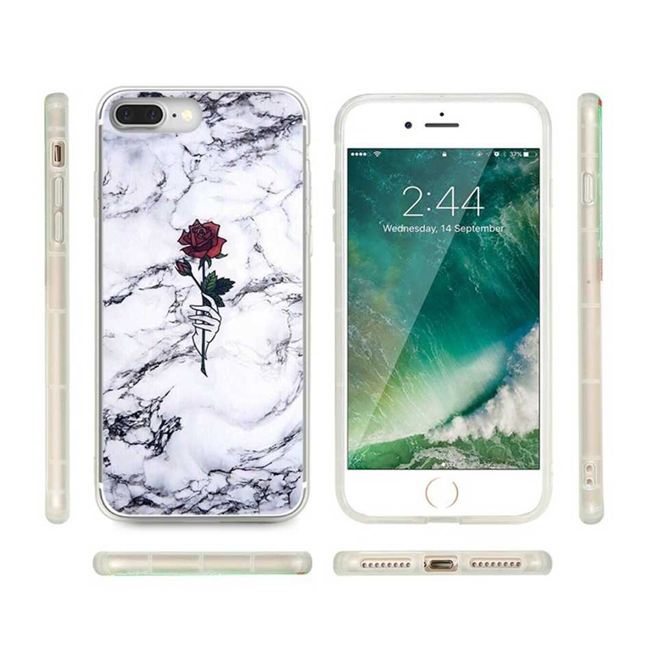 FLOVEME Flower Marble Case for Huawei P20 Lite P10 P9 Lite P10 Plus Floral Soft Silicon Case for Huawei Honor 9 8 Lite Cover