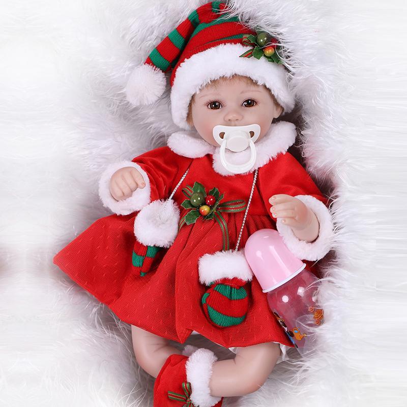 40cm Christmas Simulation Silicone Reborn Baby Dolls Toy 16 Newborn Baby Girl Birthday Gifts Cute Soft Vinyl Newborn Girl Doll40cm Christmas Simulation Silicone Reborn Baby Dolls Toy 16 Newborn Baby Girl Birthday Gifts Cute Soft Vinyl Newborn Girl Doll