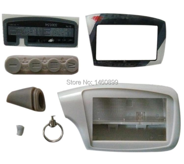 Venta al por mayor M5 caso llavero para ruso Scher-Khan Magicar 5 6 sistema de alarma de coche LCD Control remoto Scher Khan M5 M6 M902F M903F